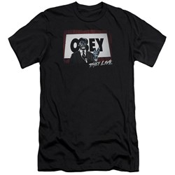 They Live - Mens Obey Premium Slim Fit T-Shirt
