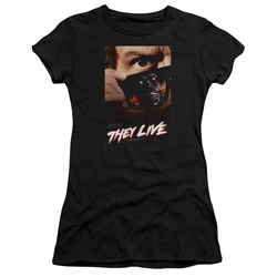 They Live - Juniors Poster Premium Bella T-Shirt