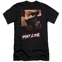 They Live - Mens Poster Premium Slim Fit T-Shirt