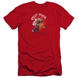 Scott Pilgrim - Mens Scott Poster Premium Slim Fit T-Shirt