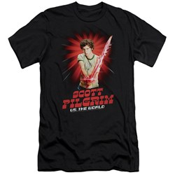 Scott Pilgrim - Mens Super Sword Premium Slim Fit T-Shirt