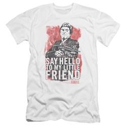 Scarface - Mens Little Friend Premium Slim Fit T-Shirt