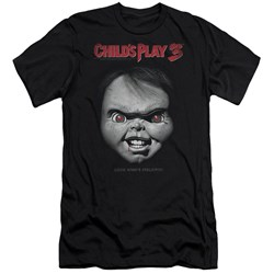 Childs Play 3 - Mens Face Poster Premium Slim Fit T-Shirt