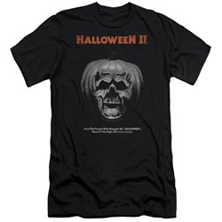 Halloween Ii - Mens Pumpkin Poster Premium Slim Fit T-Shirt