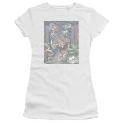 Jurassic Park - Juniors Giant Door Premium Bella T-Shirt