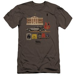 Back To The Future - Mens Items Premium Slim Fit T-Shirt