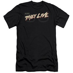 They Live - Mens Glasses Logo Premium Slim Fit T-Shirt