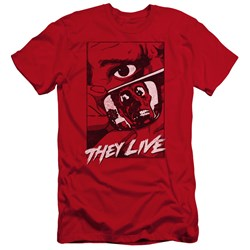 They Live - Mens Graphic Poster Premium Slim Fit T-Shirt