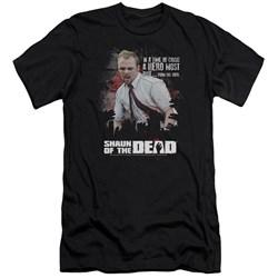 Shaun Of The Dead - Mens Hero Must Rise Premium Slim Fit T-Shirt