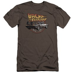 Back To The Future - Mens Time Machine Premium Slim Fit T-Shirt