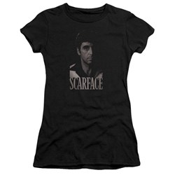Scarface - Juniors B&W Tony Premium Bella T-Shirt