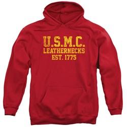 Us Marine Corps - Mens Leathernecks Pullover Hoodie