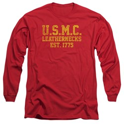 Us Marine Corps - Mens Leathernecks Long Sleeve T-Shirt