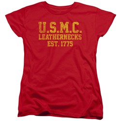 Us Marine Corps - Womens Leathernecks T-Shirt