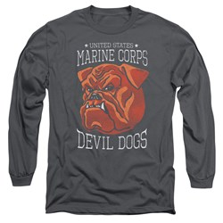 Us Marine Corps - Mens Devil Dogs Long Sleeve T-Shirt