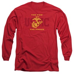 Us Marine Corps - Mens Split Tag Long Sleeve T-Shirt