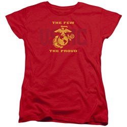 Us Marine Corps - Womens Split Tag T-Shirt