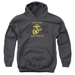 Us Marine Corps - Youth Split Tag Pullover Hoodie