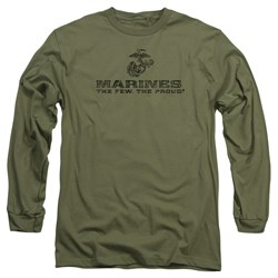 Us Marine Corps - Mens Distressed Logo Long Sleeve T-Shirt