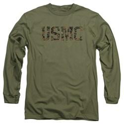 Us Marine Corps - Mens Usmc Camo Fill Long Sleeve T-Shirt