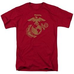 Us Marine Corps - Mens Gold Emblem T-Shirt