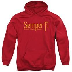 Us Marine Corps - Mens Semper Fi Pullover Hoodie