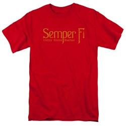 Us Marine Corps - Mens Semper Fi T-Shirt
