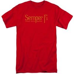 Us Marine Corps - Mens Semper Fi Tall T-Shirt