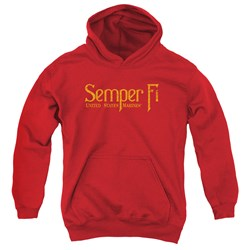 Us Marine Corps - Youth Semper Fi Pullover Hoodie
