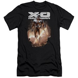 Xo Manowar - Mens Lightning Sword Premium Slim Fit T-Shirt