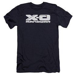 Xo Manowar - Mens Logo Premium Slim Fit T-Shirt
