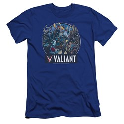 Valiant - Mens Ready For Action Premium Slim Fit T-Shirt