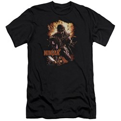 Ninjak - Mens Fiery Ninjak Premium Slim Fit T-Shirt