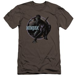 Ninjak - Mens Crouching Ninjak Premium Slim Fit T-Shirt