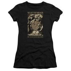 Velvet Revolver - Juniors Quick Machines Premium Bella T-Shirt