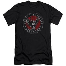 Velvet Revolver - Mens Circle Logo Premium Slim Fit T-Shirt