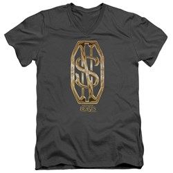 Fantastic Beasts - Mens Scamander Monogram V-Neck T-Shirt
