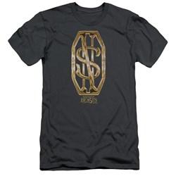 Fantastic Beasts - Mens Scamander Monogram Premium Slim Fit T-Shirt