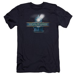 Polar Express - Mens Train Logo Premium Slim Fit T-Shirt
