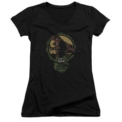 Kong Skull Island - Juniors Wrath Of Kong V-Neck T-Shirt