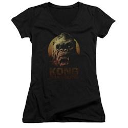 Kong Skull Island - Juniors Kong V-Neck T-Shirt