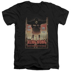 King Kong - Mens Eighth Wonder Of The World V-Neck T-Shirt