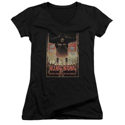 King Kong - Juniors Eighth Wonder Of The World V-Neck T-Shirt