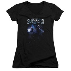 Mortal Kombat - Juniors Sub-Zero V-Neck T-Shirt