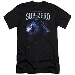 Mortal Kombat - Mens Sub-Zero Premium Slim Fit T-Shirt