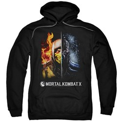 Mortal Kombat - Mens Fire And Ice Pullover Hoodie