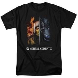 Mortal Kombat - Mens Fire And Ice T-Shirt