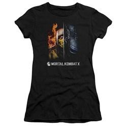 Mortal Kombat - Juniors Fire And Ice Premium Bella T-Shirt