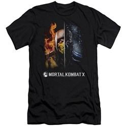 Mortal Kombat - Mens Fire And Ice Premium Slim Fit T-Shirt