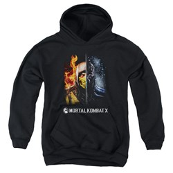 Mortal Kombat - Youth Fire And Ice Pullover Hoodie